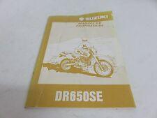 OEM Suzuki DR650SE Owner's Manual - Manuel Du Propriétaire PN 99011-32E51-01F