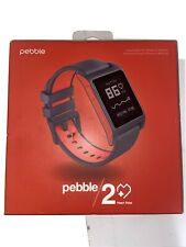 Pebble 2 + Heart Rate Red Polycarbonate Case Classic Buckle - (1002-00065)