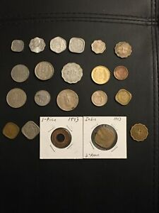 Lot of 20 British India coins - Mixed Grades- Please See Pics