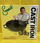 Emeril by All-Clad Cast iron Vertical Chicken Roaster For Oven or Barbeque