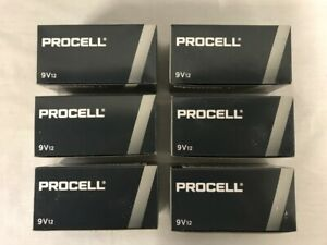72 New Procell 9V Alkaline Batteries by Duracell PC1604 EXP in 2024 or Later