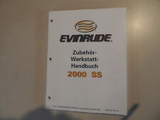 Werkstatthandbuch Evinrude Außenborder Zubehör 2000 Batterie Tank usw.