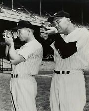 1950s Mantle & Dickey Yankees Try Hand at Photography 11x14 Archival Photo