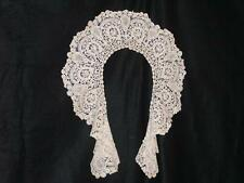 Brussels Rose Point Lace Circular Collar Antique Handmade 1920's