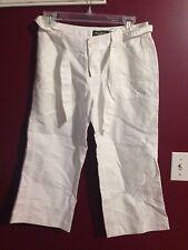 Women's EDDIE BAUER Capri Pants Outdoors Size Petite 6 White