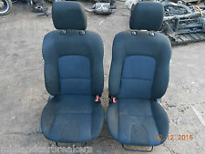 MAZDA 3 BK 2005 BOTH OS NS DRIVER PASSENGER FRONT INTERIOR SEATS BLUE CLOTH