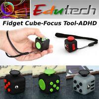 EduTECH- Mini Fidget Cube -Kids Adults-Focus Tool- Stress Relief- ADHD- Spectrum