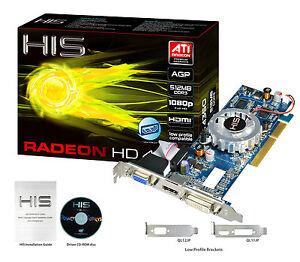 HIS Radeon HD 4350 HDMI 512MB (64 bit) DDR3 AGP 8x Video Card