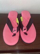 Fila Sport Flip Flop Sandals Summer Beach Shoes Women's Size Large 9/10 Flexible
