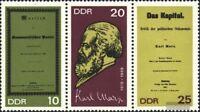 DDR WZd195 (1365-1367 als Dreierstreifen) FDC 1968 150.Geburtstag von Marx