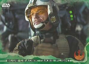 "Star Wars Rogue One Series 1: #49 ""Blue Leader"" Green Parallel Base Card"