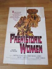 PREHISTORIC WOMEN Original 1966 poster Hammer Slave Girls
