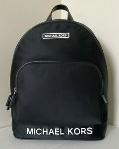 New Michael Kors Sport Large Backpack Nylon Black