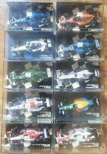 Job Lot 10x Minichamps 1/43 F1 cars Jaguar Sauber Benetton Midland Arrows Prost