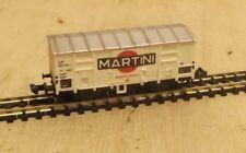 """Minitrix N 3281 Gedeckter Güterwagen Spitzdachwagen """"Martini"""""""
