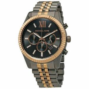 Michael Kors MK8561Lexington Rose Gold & Gunmetal Stainless Steel Men's Watch