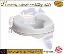 "Raised Toilet Seat 2"" 50mm Without Lid easy clip on/Top Quality / Direct Importe"