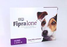 FIPRALONE (Fiproline) 67 mg Lösung zum Auftropfen kleine Hunde 4 st  PZN11360747