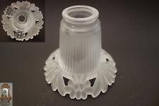 seltener Lampenschirm Glas satiniert 480g Hänge Lampe Tisch Wandlampe Durchbruch