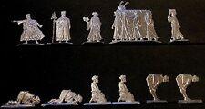 Islam - Betende, Imam, Bestattung Orient 16. - 19. Jhd. - 11 Fohler Zinnfiguren