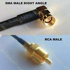 USA-CA RG58 SMA MALE ANGLE to RCA MALE Coaxial RF Pigtail Cable