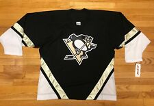NHL PITTSBURGH PENGUINS RETRO JERSEY BLACK WORN 2000-2007 CCM NEW WITH TAGS