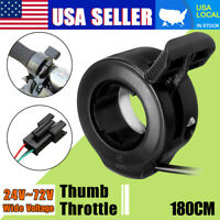 180cm Electric Speed Control Thumb Throttle Left/Right Handle For E-Bike