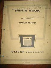 Cletrac Oliver OC-12 Diesel Crawler Tractor Parts Book Manual ORIGINAL