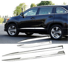 Chrome Body Door Side Molding Cover Trim Garnish For Toyota Highlander 2015-2017