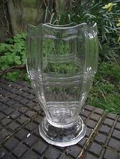 Vase - 1950's - Clear Glass - Czech ? German ? Retro Geometric Pattern