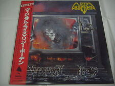 LIZZY BORDEN-Visual Lies JAPAN 1st.Press w/OBI PROMO Iron Maiden Metallica Kiss