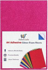 A4 Bright Pink Glitter Foam Sheets EVA Foam Adhesive Sticky Back Foam Sheet