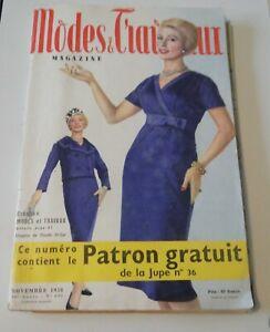Magazine Modes & Travaux Novembre 1958