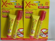 2 X KIDS XPEL  CHILDREN'S DEET FREE MOSQUITO INSECT REPELLENT BITE STING RELIEF