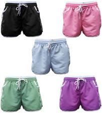 Cotton Patternless Hot Pants Plus Size Shorts for Women