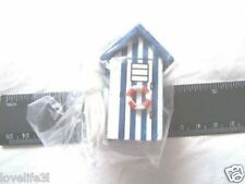 BEACH HUT CORD PULL LIGHT SWITCH TOILET BATHROOM SWITCH BLUE WHITE SEASIDE HOUSE