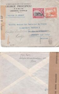 Cyprus `140 From Limasssol and with censor label M/19  to Belgium