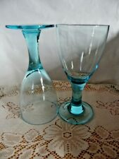Blue Wine Glasses x 2