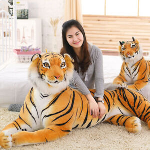 Large Soft Plush Tiger Toy Doll Giant Stuffed Animals Dolls for Kids Boys Gifts