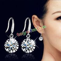 Pendientes de diamantes de imitación de cristal de 925 plata esterlina Sra.