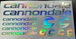 Cannondale frame stickers decals chrome rainbow bicycle mtb road bike bmx cycle