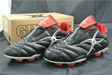 GILBERT RUGBY BOOTS SIZE 9 UK SHOES FOOTBALL BLACK RED WALKING BOOTS TRAINNERS