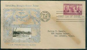 US-856 CANAL ZONE. cancel.USS.CHARLESTON AUG.15-1939  ADDR.3c