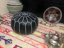 Authentic MOROCCAN POUF Leather Pouf Ottoman footst