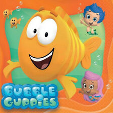 BUBBLE GUPPIES birthday party lunch dinner PAPER NAPKINS supplies 8pc Mr Grouper