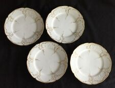 Set of 4 Rosenthal #252 Sanssouci Bread & Butter Plates Gold Accent Scrolls