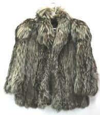 Schumacher Fur Vintage Women's Open Front Long Sleeve Fox Fur Jacket Coat