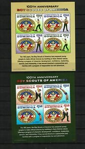 DOMINICA 2010 - BOY SCOUTS OF AMERICA  100th Anniversary - 2 m/s mnh