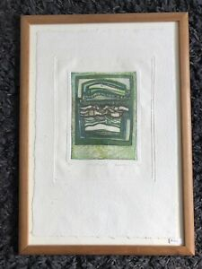"""BRENDA HARTHILL R.E. Limited Edition ETCHING """"Flowing elements iii"""" 58/100"""