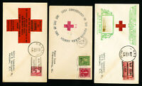 US 100th Anniversary USS Relief Stamp Cover Lot of 3